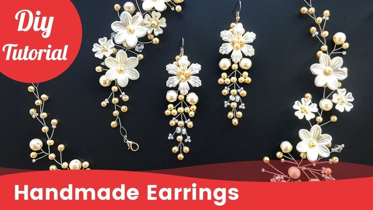 How to Make DIY Bridal Earrings. Easy & Quick Wedding Pearl Earrings [Eng Subs] - YouTube