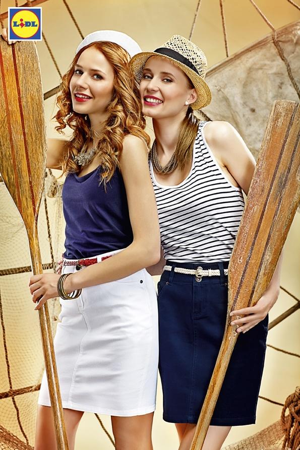 Marynarskie paski i kolory górą! Razem z granatowymi i białymi spódniczkami tworzą świeże, bardzo dziewczęce zestawy. Ahoj, letnia przygodo!