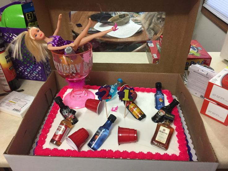 Drunk Barbie Cake Happy 21st Birthday Bre Cakes And