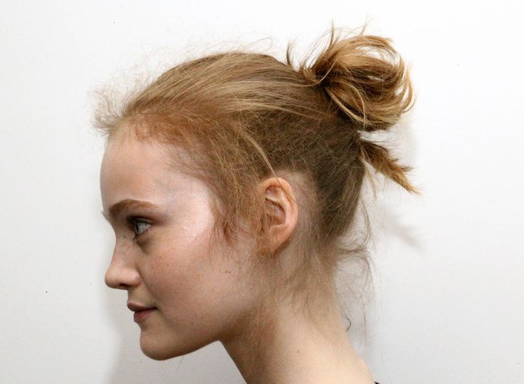 The TRESemme team coined this trend 'The Flyaway Top Knot', where pre-Raphaelite meets punk. Love it!  -Cosmopolitan.co.uk
