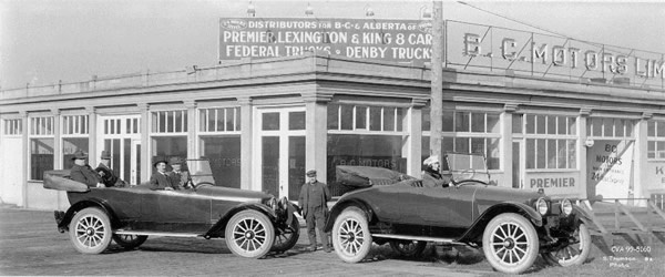 By 1916 automobiles had become a common sight on Vancouver's city's streets and the South Granville neighbourhood started to see the construction of the first of several gas stations but there was only one automobile dealer.