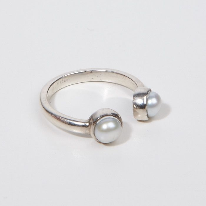 Refined Pearl Open Ring - 925