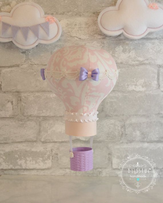 Single Hot Air Balloon - Custom Made - Nursery Decor - Collect your own