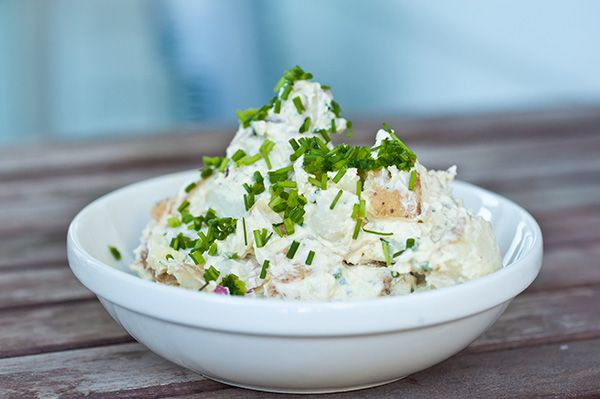 Potato Salad with Japanese Mayo A creamy potato salad with the nutty taste of sesame mayo.