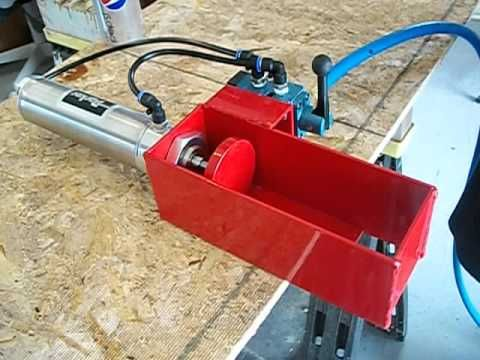 Parker 2x5 with Mac valve pneumatic can crusher