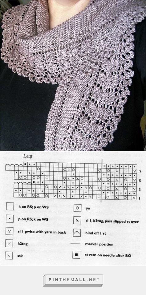 Lace Knitting Scarf, free pattern - leider auf der Ursprungsseite nicht mehr verfügbar!