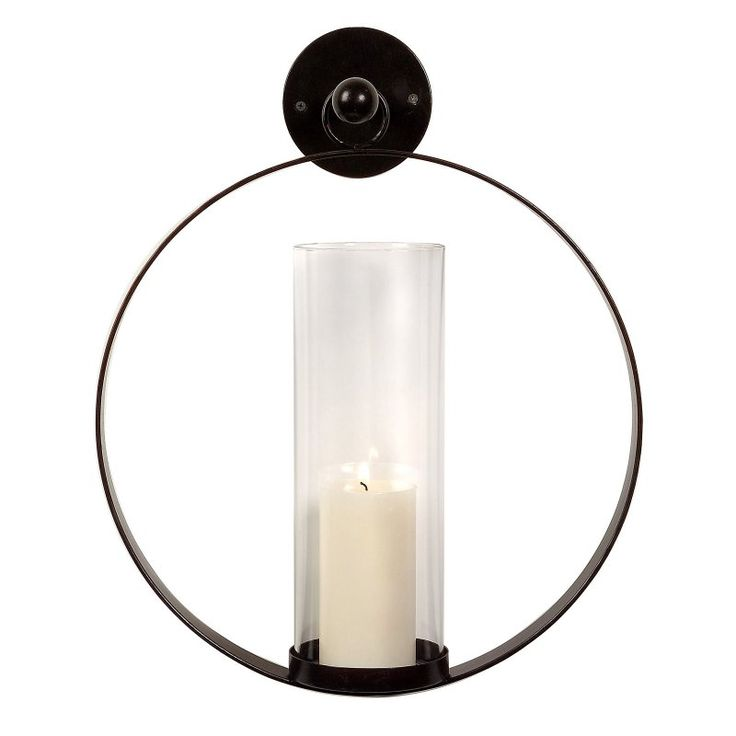 IMAX Circle Metal Candle Wall Sconce - 56085