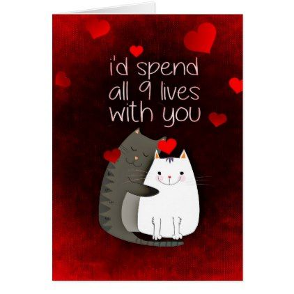 d6ab1fb426467188b46a5428327772bc - Valentine's Day Love Cats Card - valentines day gifts diy couples special da...