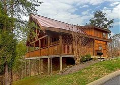 D'Vine Ridge is a two story 1 bedroom cabin in Pigeon Forge with a gas fireplace located near the Parkway.
