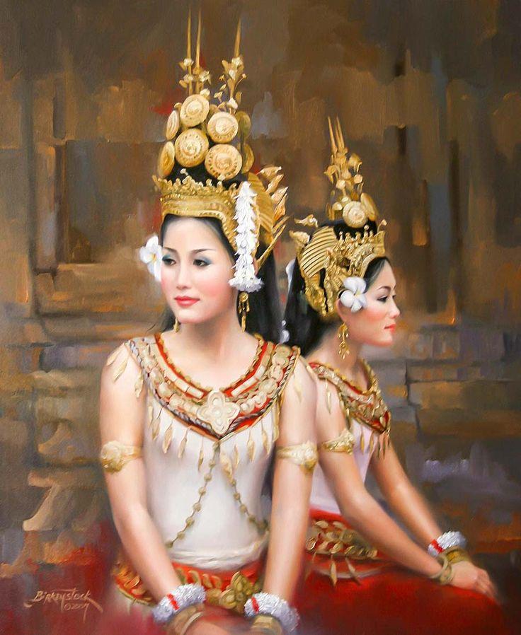 Asian oil dancer