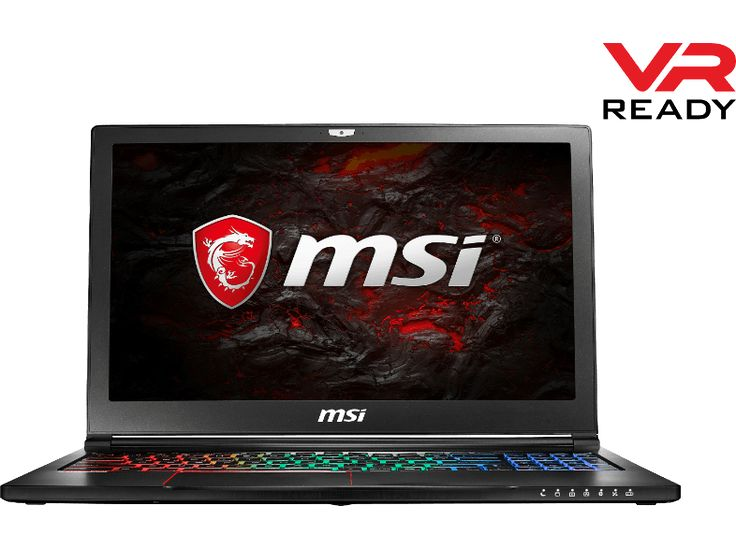 génial MSI PC portable gamer GS63VR 7RF Stealth Pro Intel Core i7-7700HQ (GS63VR 7RF-217BE) chez Media Markt