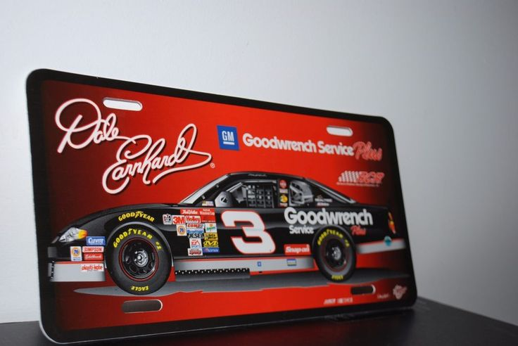 Dale Earnhardt Nascar Car License Plate GM GoodWrench Service Plates