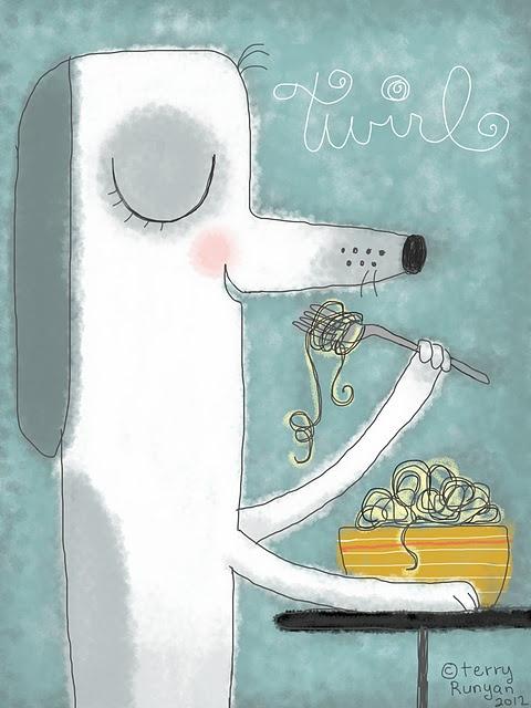 Super cute spaghetti dog