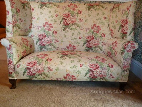 Victorian High Back Sofa - Antiques Atlas