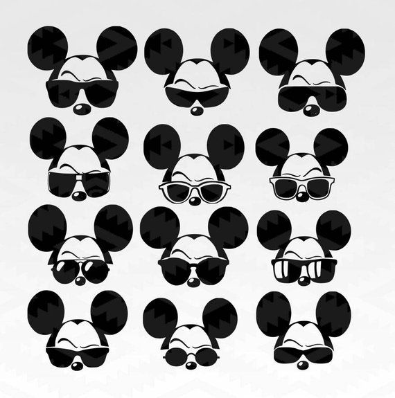 dfec9577ad48 Sunglasses Mickey svg
