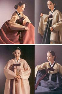 The Korean hanbok is probably the oldest traditional costume in the world that has kept the original style.  We can see the Korean costume portrayed in tomb murals from the Koguryo period.  Actually, people wore clothing of this style before written records were kept but the history of hanbok goes back 2000 years even when we count the years after history was officially recorded.