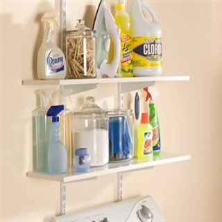 "Rubbermaid 24"" White Twin Track Bracket Medicine Cabinets, Medicine Chest, Brackets Pairings, Rubbermaid Twin, Track Hardware, Basements Shelves, Twin Track, Shelves Brackets, Laundry Room"