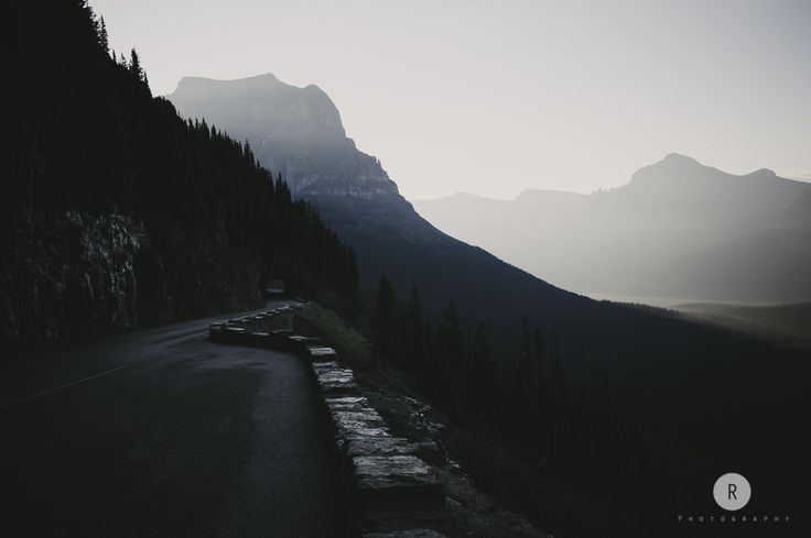 Going to the sun road. Glaciar Park, Montana.