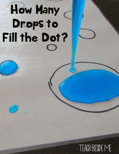 Eye Dropper Dot Counting - Fun Preschool sensory counting activity!