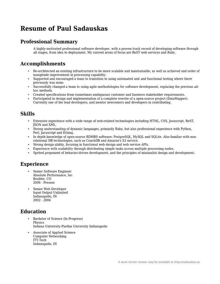 The  Best Professional Profile Resume Ideas On   Cv