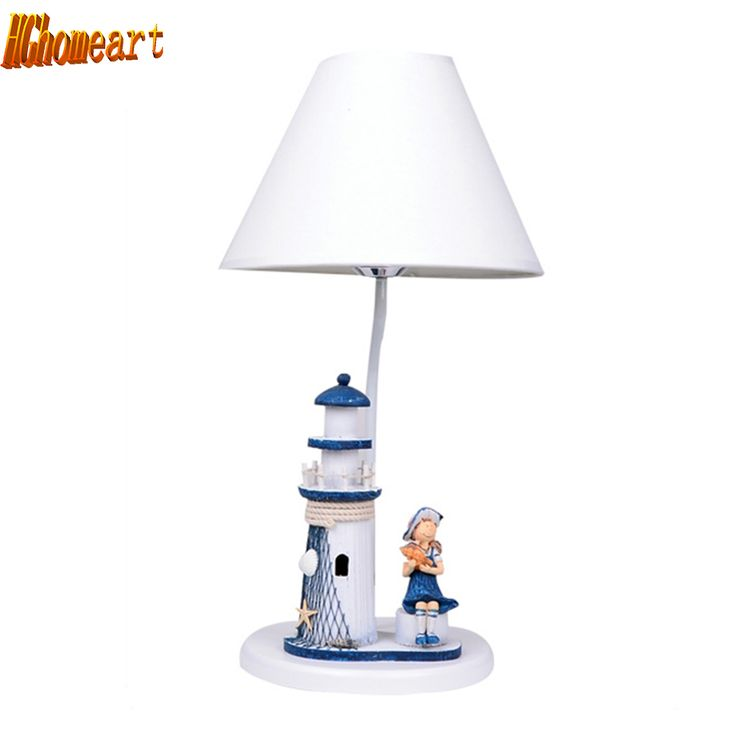 HGhomeart Kids Room Reading Bed Light Luminarias Led E27 Study Lamp 110V-220V Wood Desk Lamp Mediterranean Style Bedside Lamp