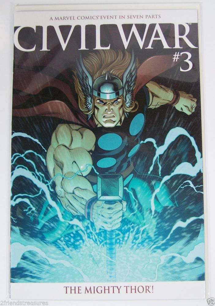 The Mighty Thor Civil War #3 Marvel Comics Variant Cover Bagged Board 2006