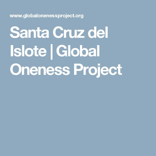 Santa Cruz del Islote | Global Oneness Project