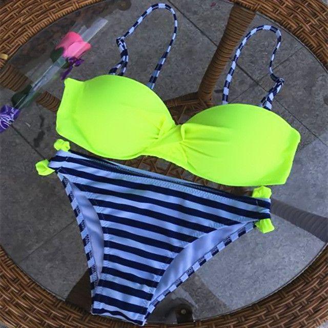 Bikini Set Women S-XXL Push Up Swimwear Women Two Piece Swimsuit Sexy Bikini Brazilian Plavky Swimming Bikini Women 2017 Biquine