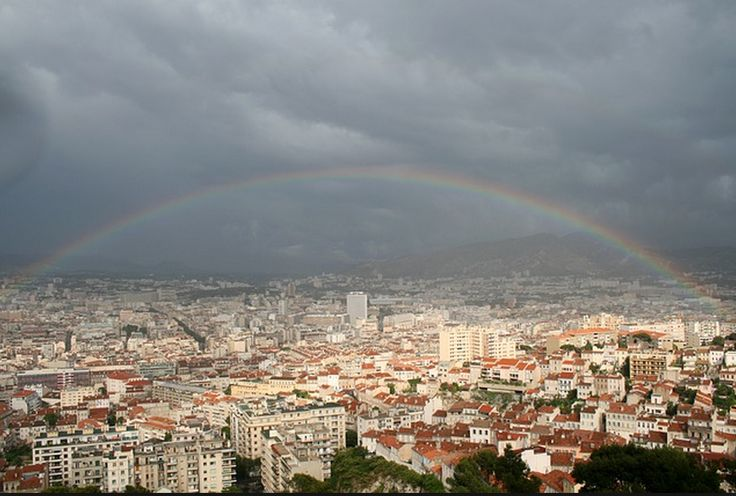 rainbow over Marseilles