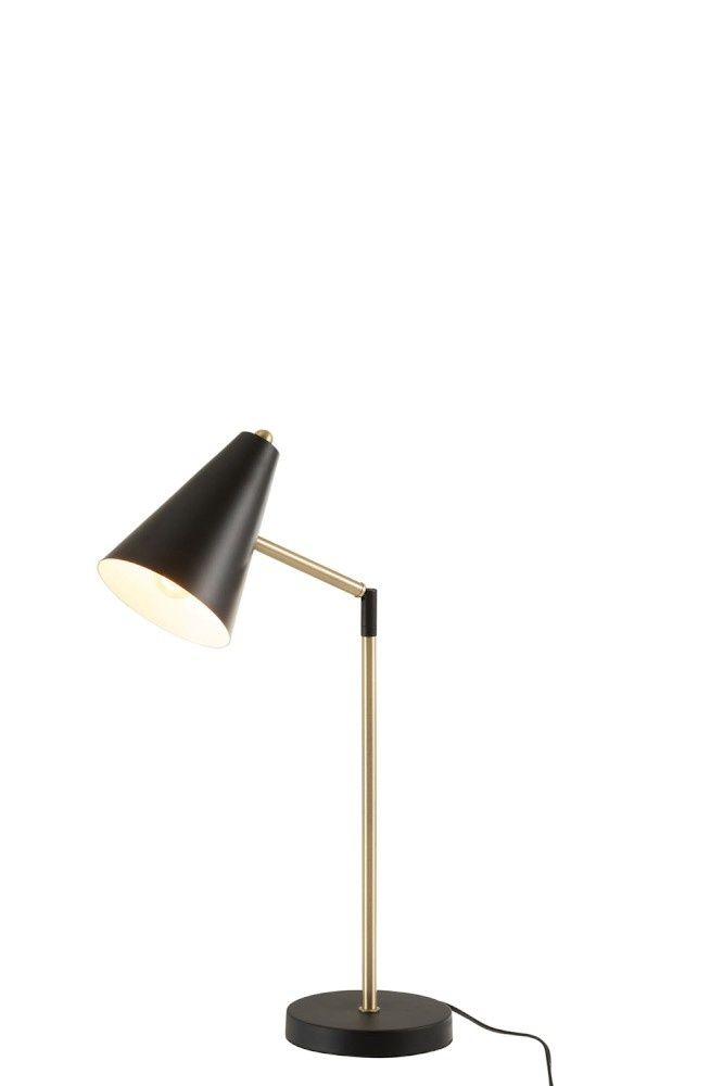Tafellamp Kegel Zwart Goud Metaal Touch Tafellamp Zwart Goud Metaal