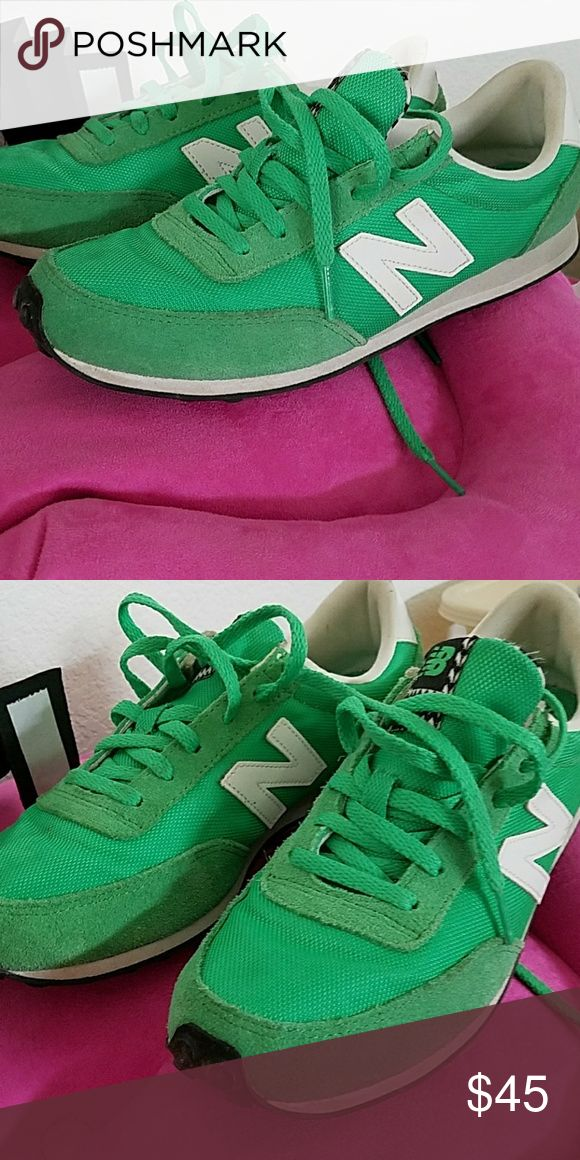 Bright green New Balance sneakers Super cute bright green great condition ladies size 8.5 Shoes Sneakers