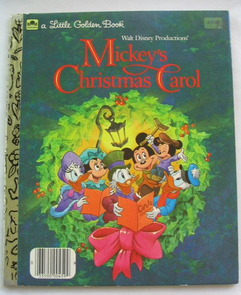 Mickeys Christmas Carol Vintage Little Golden Book Walt Disney Productions 495 Via