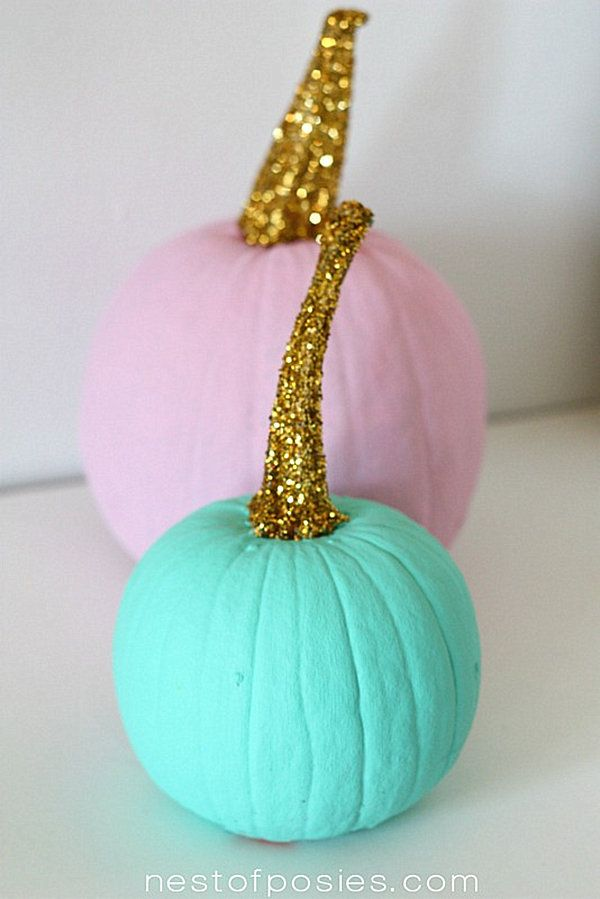 Acrylic paint pumpkins
