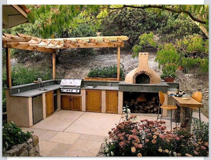 Les 89 meilleures images du tableau outdoor kitchen for Cuisine ete exterieure pergola