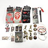 #6: Twilight Fan Ultimate Gift Package Includes Socks Buttons Keychains Bookmark Pen Jelly Bracelets Bandages Bag Clips and Dog Tags
