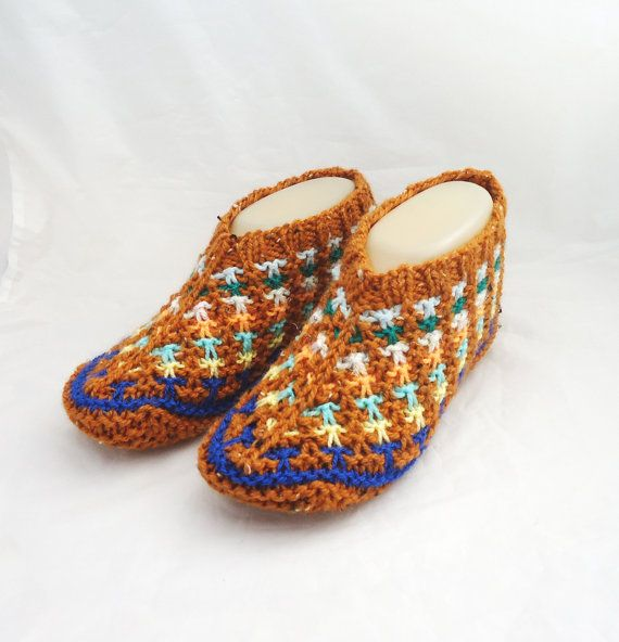 Women Slippers Knit Women Slippers Hand Knitted by evefashion