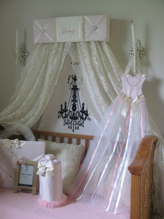 Crib Canopy Bed Crown Teesters Princess Pink By SoZoeyBoutique 4997