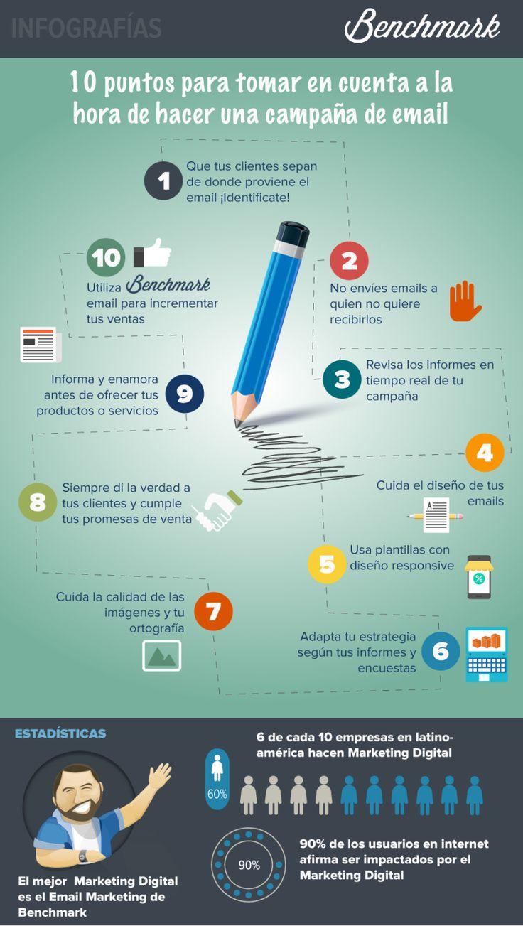 10 puntos a tener en cuenta para tus campañas de email #infografia #marketing