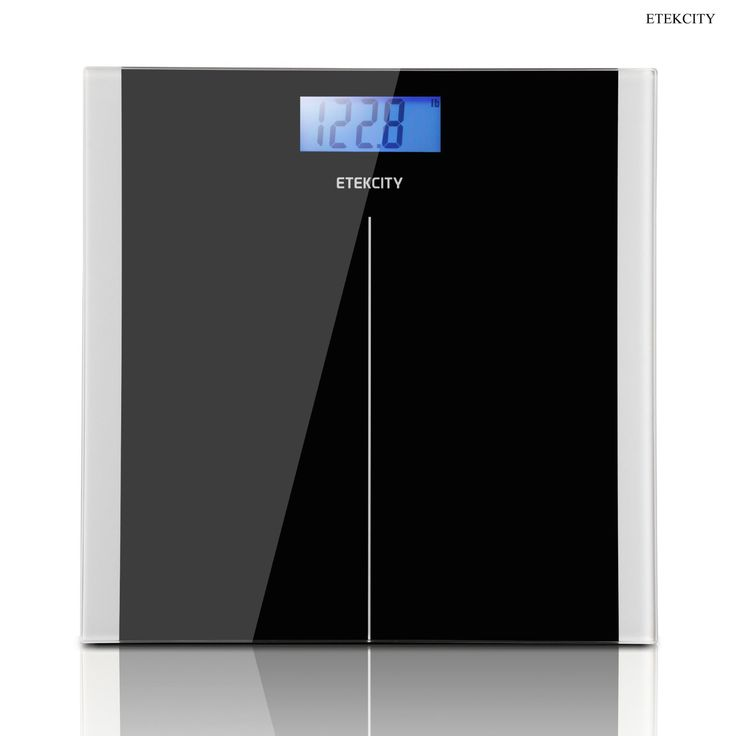 Black Digital Body Weight Bathroom Scale