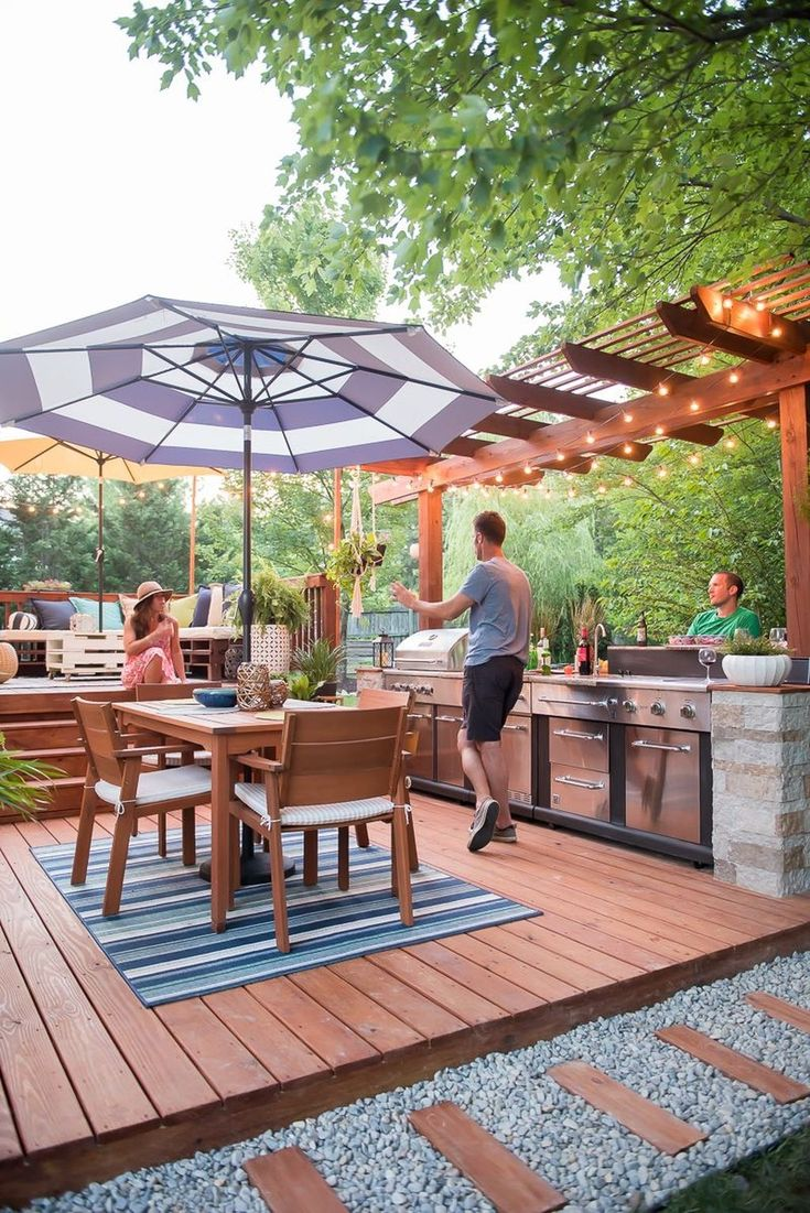 best backyard kitchen images on pinterest