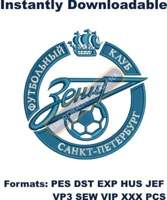 Zenit Saint Petersburg logo embroidery designs