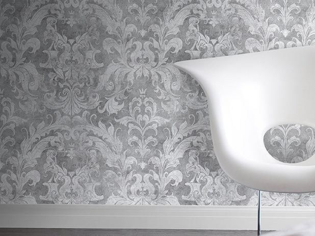 Carta da parati LIGHT URBAN CONCRETE DAMASK by Mineheart design Young & Battaglia