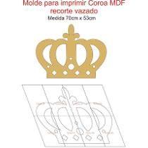 0119- Molde Para Imprimir Coroa Recorte Vazado 70cm X 53cm                                                                                                                                                      Mais