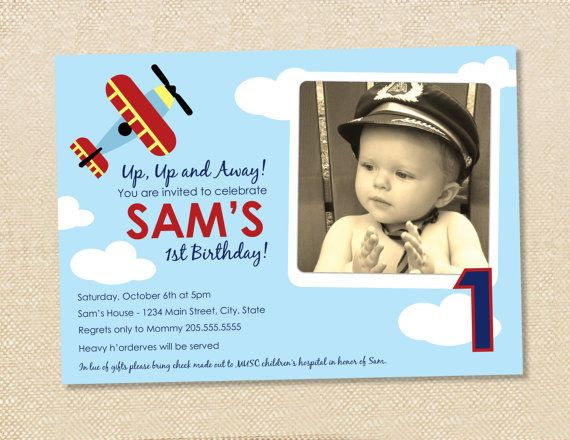 24 best birthday ideas - 1st - airplane images on pinterest, Birthday invitations