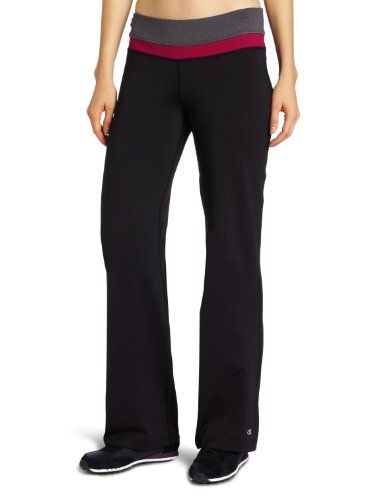 Champion Women's Absolute Workout Pant Short Length Champion. $23.34. Stretch For Ease Of Movement. Chafe Resistant Flatlock Seams. Lined Gusset. Contoured Low Rise Waist Band. Machine Wash. Moisture Management. Body: 87% Polyester/13% Spandex; Crotch Liner: 90% Polyester/10% Spandex