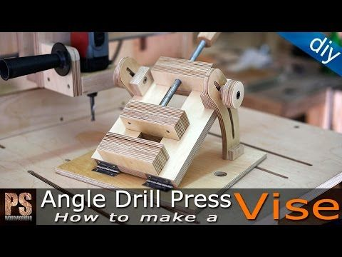 In this video I'll make an angle drill press vise that will allow me to drill…