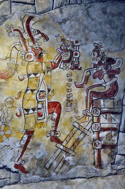 STAR GATES: San Bartolo, Guatemala,  Mayan painting. 100 BC: