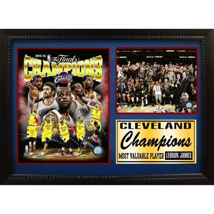 Encore Select '2016 NBA Champions Cleveland Cavaliers' 12-inch x 18-inch Photo Stat Frame