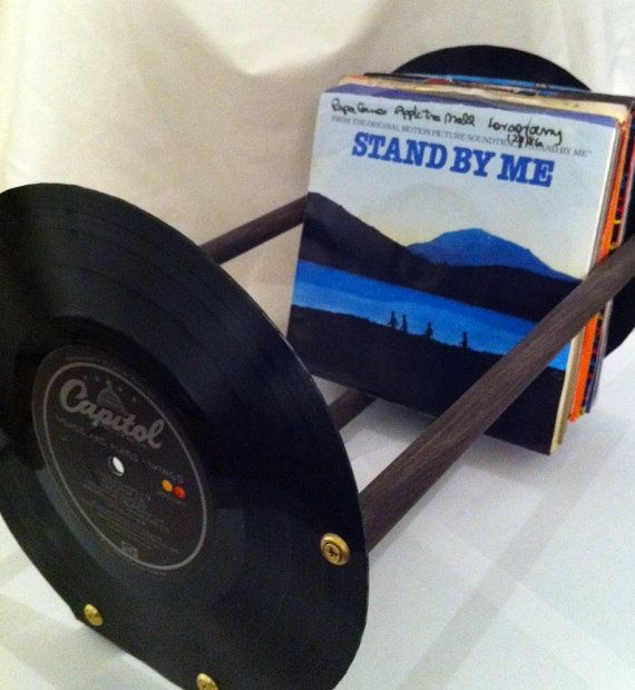 Vinyl Record 45RPM Storage Rack by ReThirtyThree on Etsy, $34.00