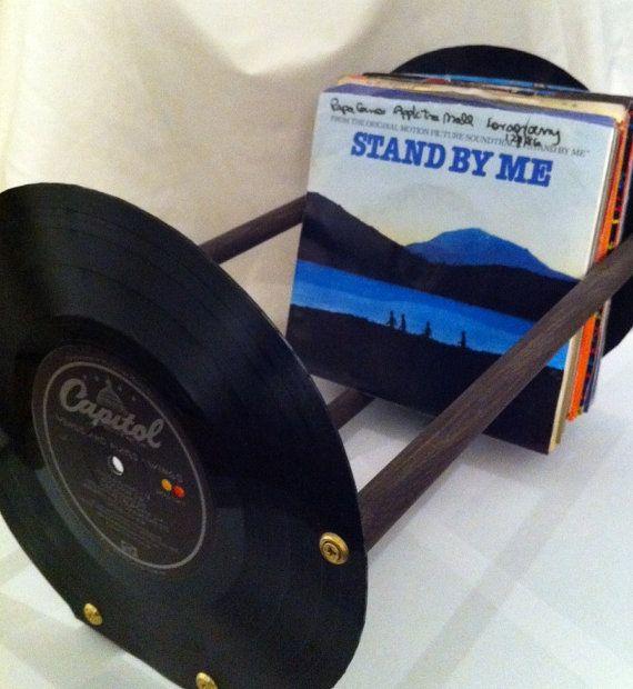 Vinyl Record 45RPM Storage Rack by ReThirtyThree on Etsy, $28.00